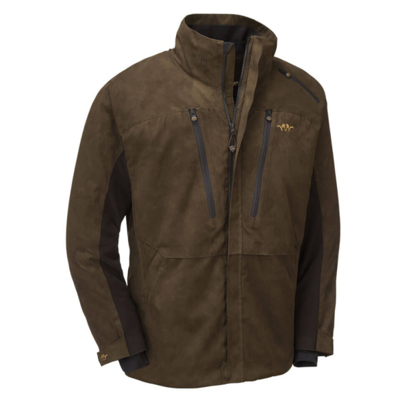 Blaser Suede Jacket Light Dark Brown