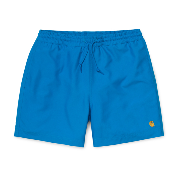 Carhartt Chase Swim Trunks Azurro / Gold