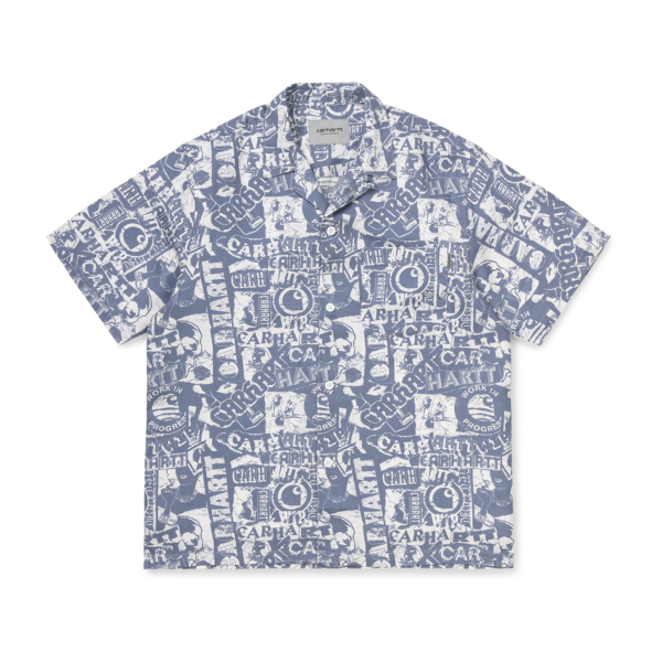 Carhartt Collage Shirt Collage Print Mossa / White