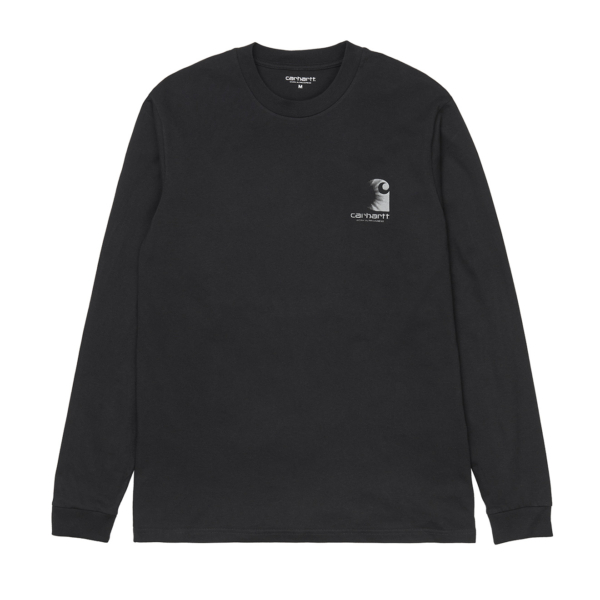 Carhartt L/S Reflective Headlight T-Shirt Black / Reflective Grey