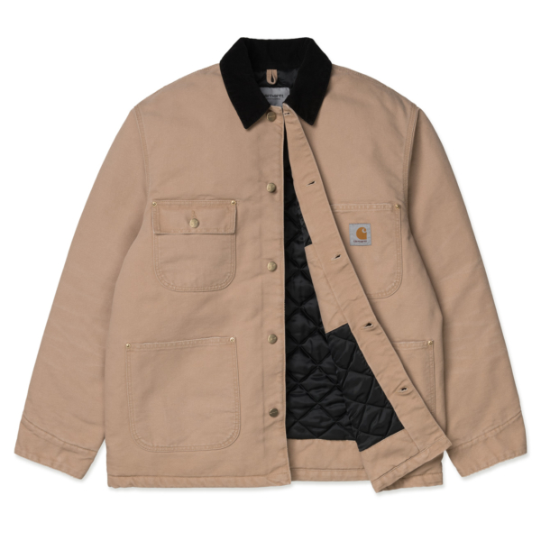 Carhartt OG Chore Coat Dusty H Brown / Black Aged Canvas
