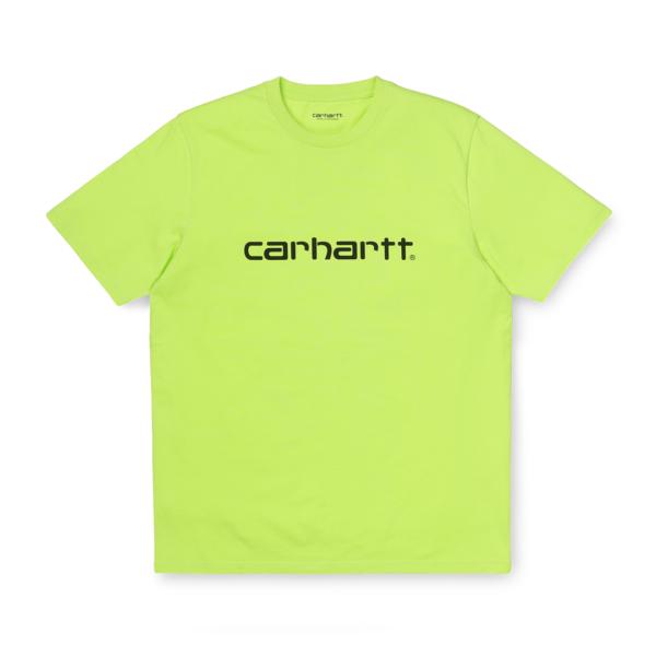 Carhartt Script T-Shirt Lime / Black