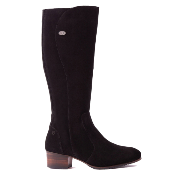 Dubarry Womens Downpatrick Boot Black Suede