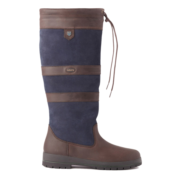 Dubarry Womens Galway Gortex Leather Boot Navy / Brown