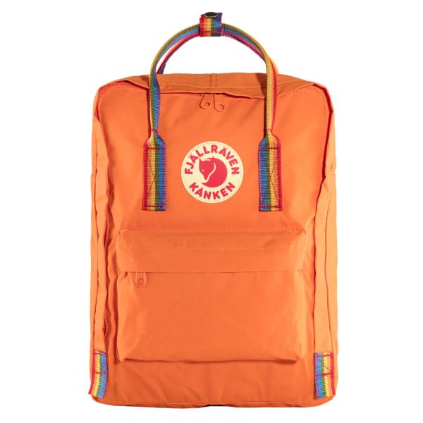 Fjallraven Kanken Classic Backpack Burnt Orange Rainbow Pattern