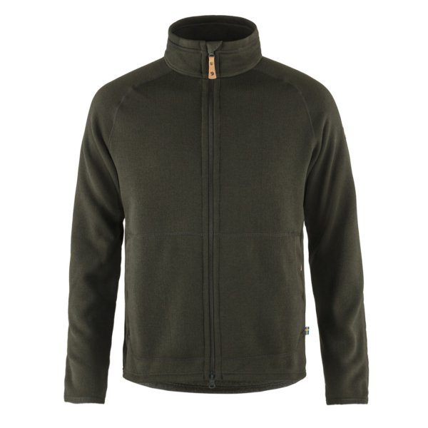 Fjallraven Ovik Fleece Zip Sweater Deep Forest