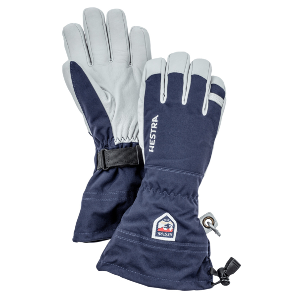 Hestra Army Leather Heli Ski Glove Navy