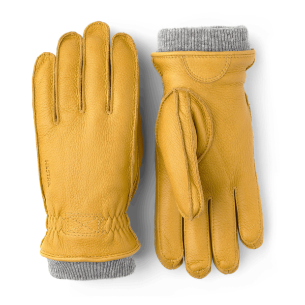 Hestra Malte Leather Gloves Natural Yellow