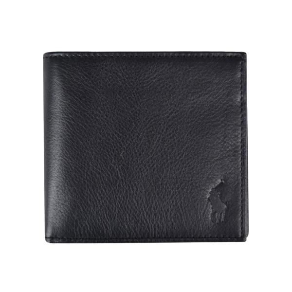 Polo Ralph Lauren Pebble Leather Billfold Wallet Black