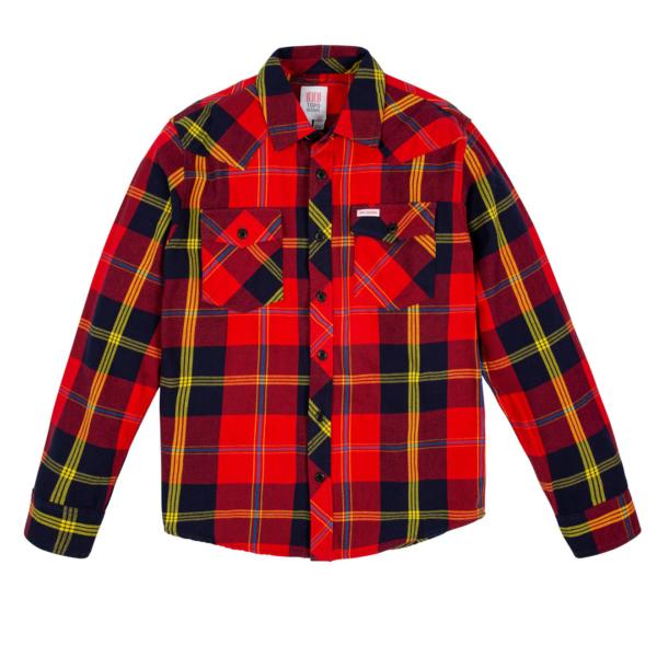 Topo Designs Mountain Shirt Red / Navy Plaid