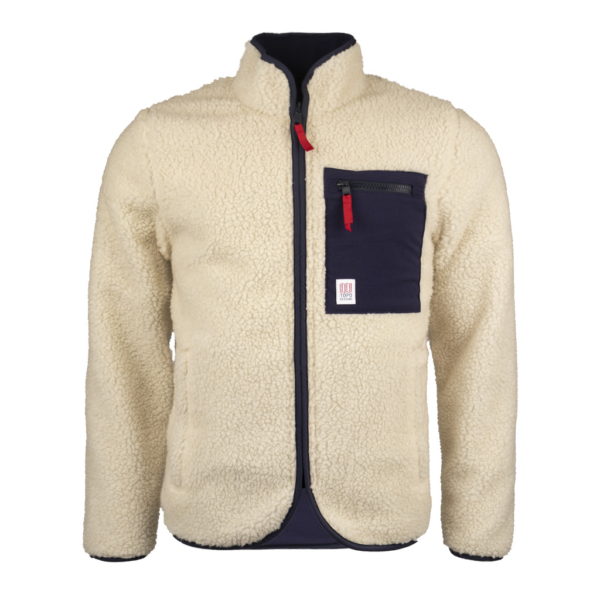 Topo Designs Sherpa Fleece Jacket Navy / Natural