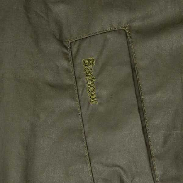 Barbour Breswell Wax Jacket Archive Olive Barbour Embroidery Welt Pocket