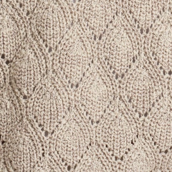 Barbour Womens Newbury Knit Summer Pearl Textured Two-Tone Boucle Yarn