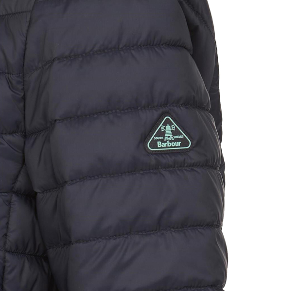 Barbour Womens Runkerry Quilt Jacket Dark Navy With Barbour Logo Tab on Left Sleeve
