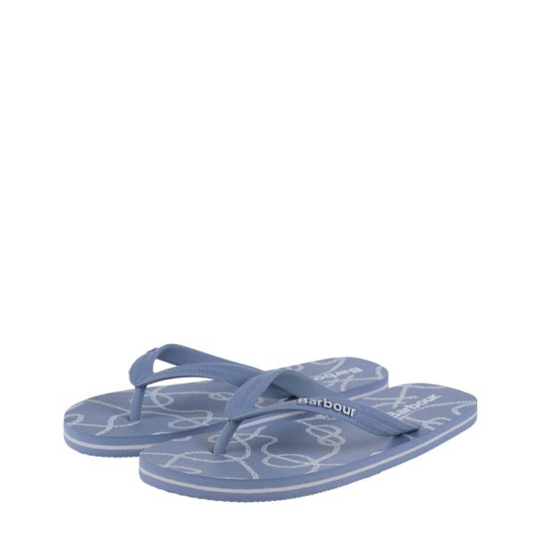 Barbour Womens Rope Print Beach Sandal Pale Blue
