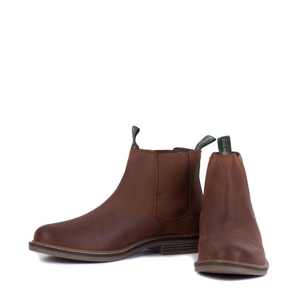 Pair of Barbour Farsley Chelsea Boots Dark Tan