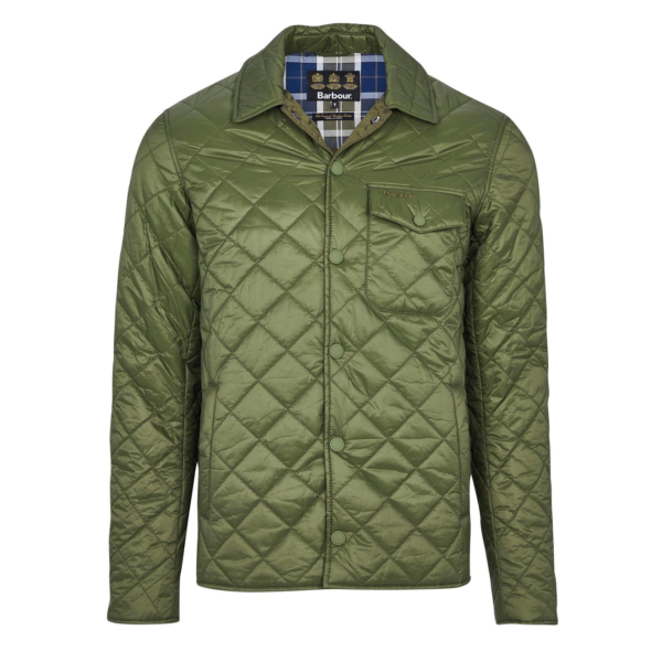 diamond-quilted shirt jacket