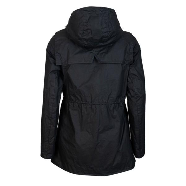 Barbour Womens Watson Wax Jacket Royal Navy/Dress Back Drawstring Hood