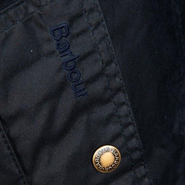 Barbour Womens Watson Wax Jacket Royal Navy/Dress Studded Side Pocket
