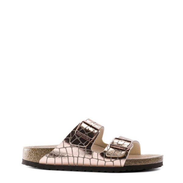 Birkenstock Arizona Sandal Womens Gator Gleam Copper