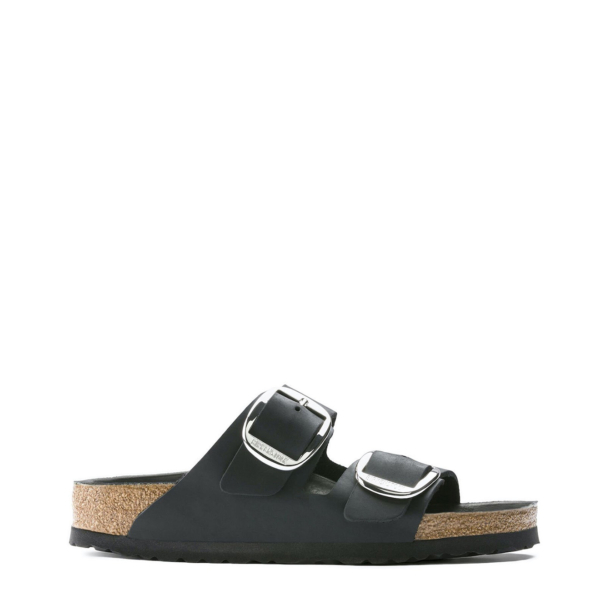 Birkenstock Womens Arizona Big Buckle Oiled Leather Black