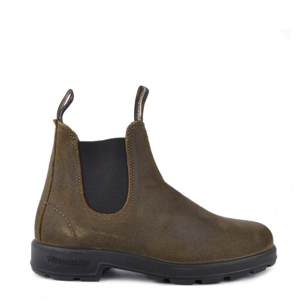 Blundstone Original Chelsea Boot #1615 Rub Suede Dark Olive