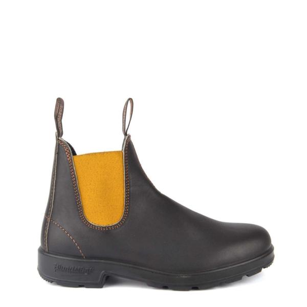 Blundstone Womens Original Chelsea Boot #1919 Brown / Mustard