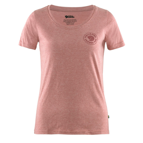 Fjallraven Womens 1960 Logo T-Shirt Raspberry / Red Melange