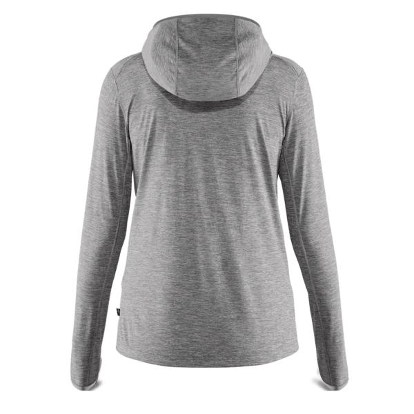 Fjallraven Womens Abisko Sun-Hoodie LS Hooded T-Shirt Shark Grey