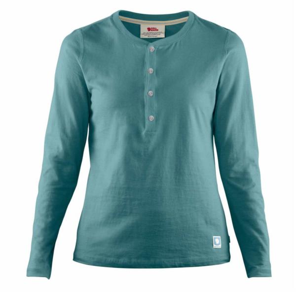 Fjallraven Womens Greenland Buttoned LS T-Shirt Frost Green
