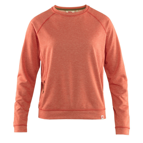 Fjallraven Womens High Coast Lite Sweater Rowan Red