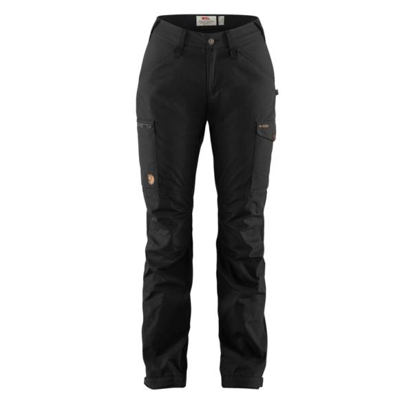 Fjallraven Womens Kaipak Curved Trousers Black