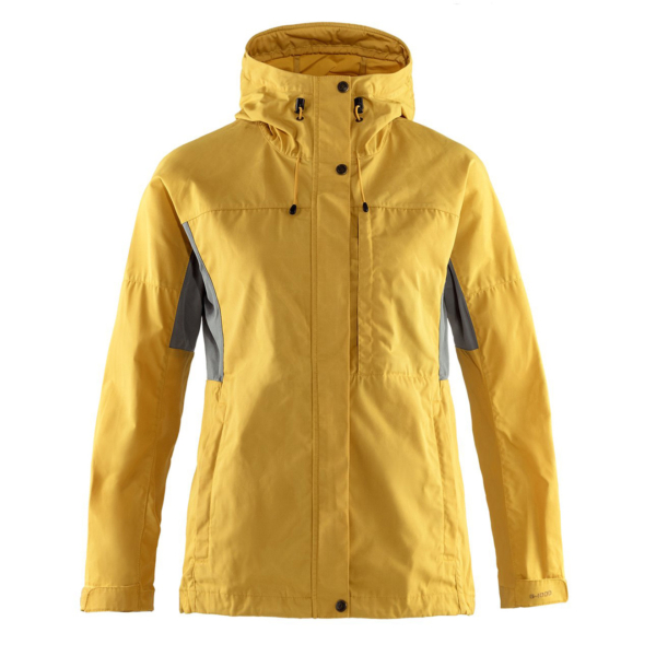 Fjallraven Womens Kaipak Jacket Ochre / Super Grey