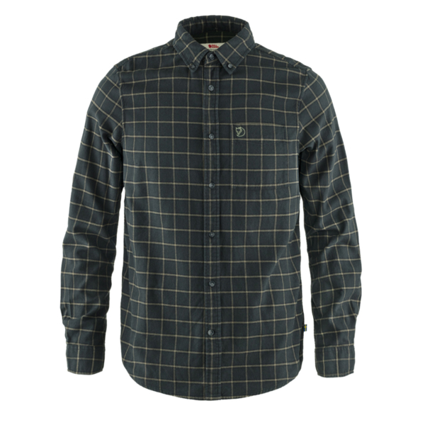 Fjallraven Ovik Flannel Shirt Dark Grey