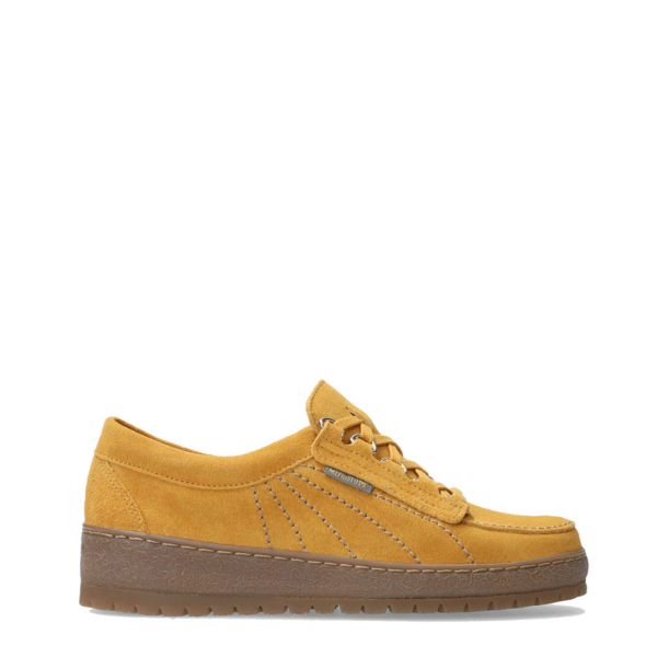 Mephisto Womens Lady Velour Shoe Ochre