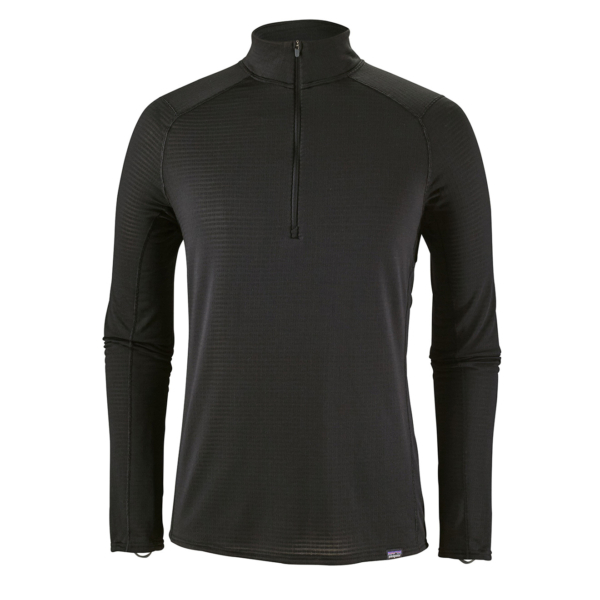 Patagonia Capilene Thermal Weight Zip Neck Base Layer Black