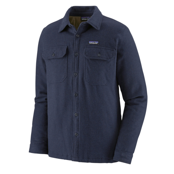 Patagonia Insulated Fjord Flannel Jacket Navy Blue