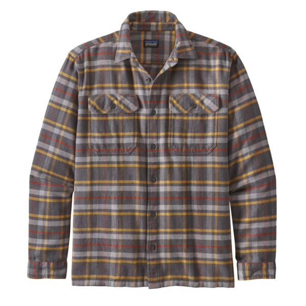 Patagonia L/S Fjord Flannel Shirt Independence Forge Grey