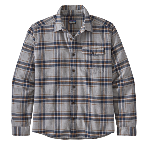 Patagonia L/S Lightweight Fjord Flannel Shirt Lawrence Grey
