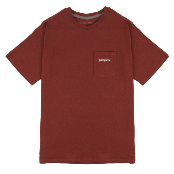 Patagonia Line Logo Ridge Pocket Responsibili-Tee Barn Red