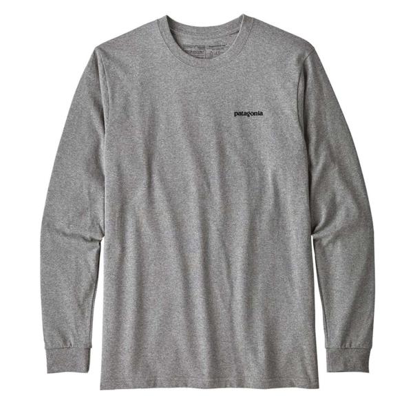 Patagonia Long Sleeve P-6 Logo Responsbili-Tee Gravel Heather