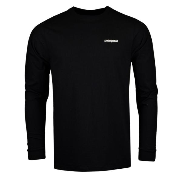 Patagonia Long Sleeve P-6 Logo Responsibili-Tee Black