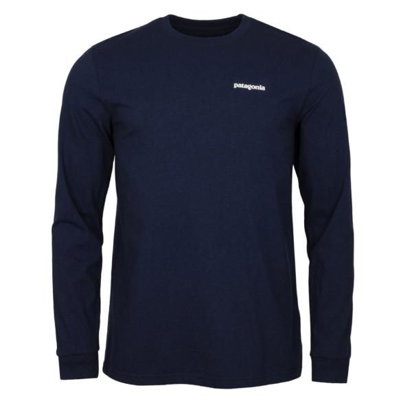 Patagonia Long Sleeve P-6 Logo Responsibili-Tee Classic Navy