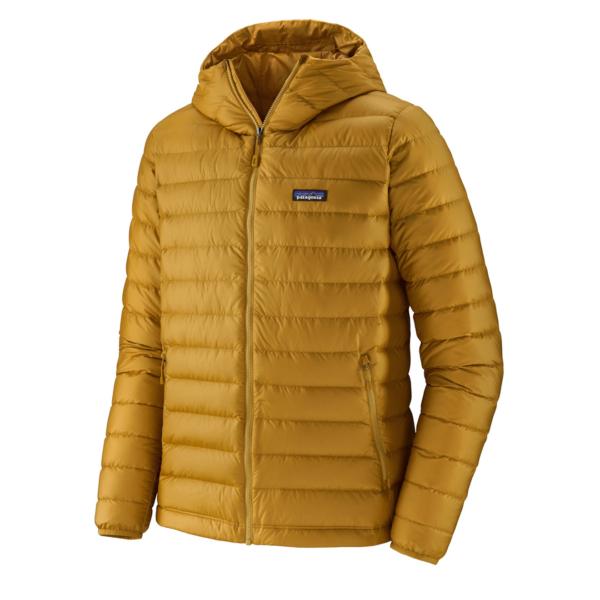 Patagonia Mens Down Sweater Hoody Jacket Buckwheat Gold