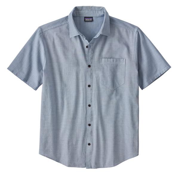 Patagonia Organic Cotton Slub Poplin SS Shirt Superior Blue