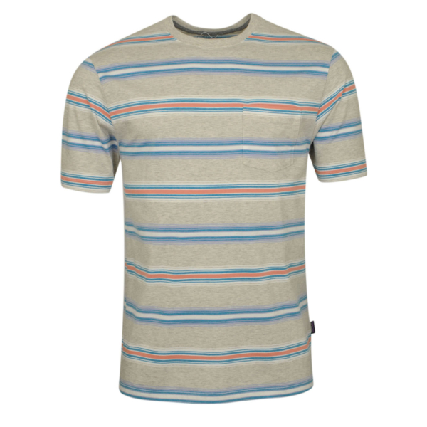 Patagonia Squeaky Clean Pocket Tee Tarkine Stripe / Tailored Grey