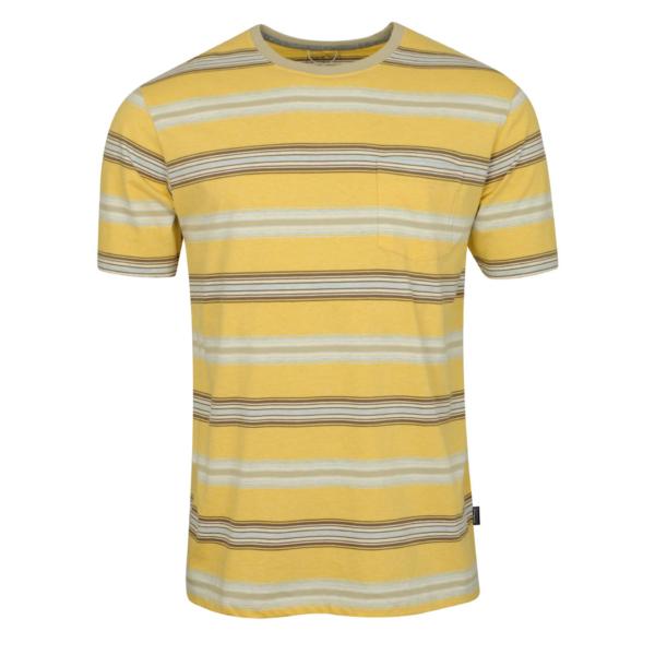 Patagonia Squeaky Clean Pocket Tee Tarkine Stripe / Surfboard Yellow / Weathered Stone