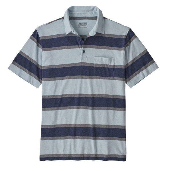 Patagonia Squeaky Clean Polo Rugby Stripe Atoll Blue