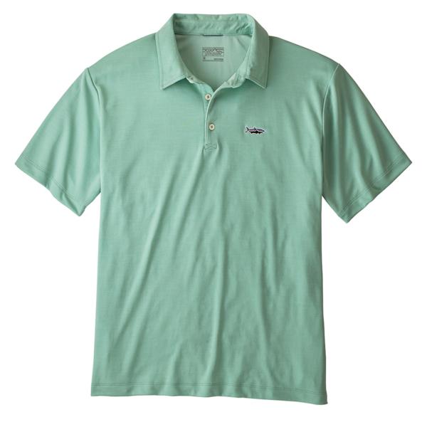 Patagonia Sunshade Polo Shirt Tarpon Fitz Roy Gypsum Green