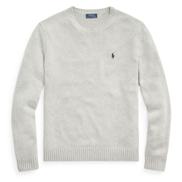 Polo Ralph Lauren Cotton Crewneck Knit Grey Heather